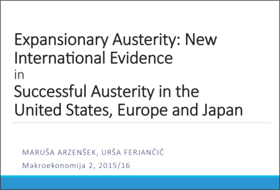Expansionary austerity