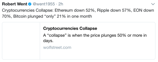 Criptocurrencies collapse