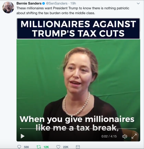 Millionaires against Trump tax cut