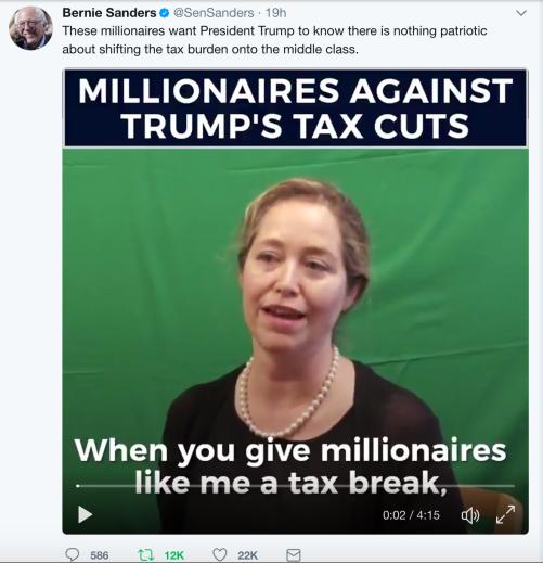 Millionaires against Trump tax cut