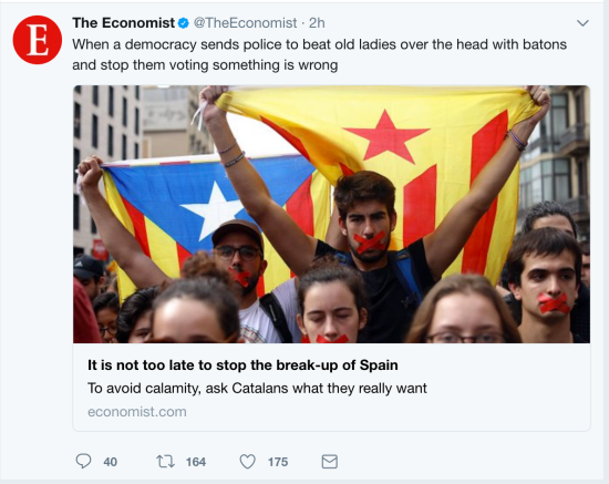 The Economist on Catalonia